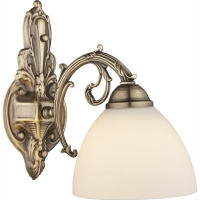 Aplica bogat ornamentata cu finisaj bronz, Silas 69023W Globo