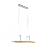Suspensie LED reglabila 80x20cm, alba/lemn natur, Tondela 96959 Eglo