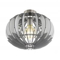 Plafoniera cu lamele de lemn gri/alb/gri, Olmero 96971 Eglo
