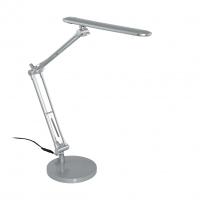 Lampa de birou argintie LED cu intrerupator, Tornos 97022 Eglo