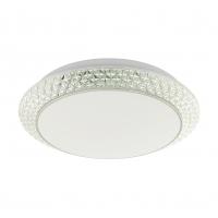 Plafoniera LED cu cristale sintetice si LED alb reglabil Porecta 97037 Eglo, Ø410