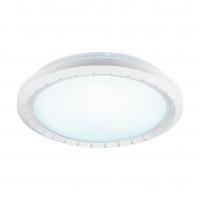 Plafoniera LED din otel si plastic cu lumina alba reglabila Gusama 97039 Eglo, Ø410