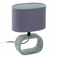 Veioza de design din ceramica si textil gri, Lagonia 1 97093 Eglo