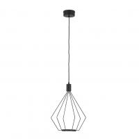 Cados 39321 Eglo, pendul vintage negru Ø335 cu 2 becuri LED