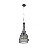Colten 49127 Eglo, pendul negru cu design retro