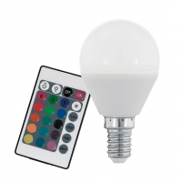 Bec E14-P45 RGBW 4W inclusiv telecomanda, RGB + alb cald reglabil