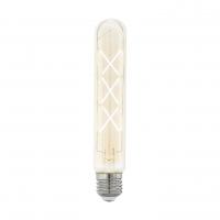 Bec decorativ tubular E27-LED T30 4W ZIGZAG AMBER 2200K