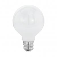 Bec Milky E27-LED-G80 8W OPAL 2700K cu lumina omogena