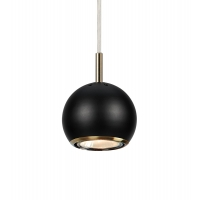 COCO pendul 1 bec negru/antic, design by James & Thedin
