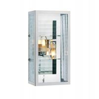 FULHAM aplica de baie/exterior 2x crom/transparent, IP44