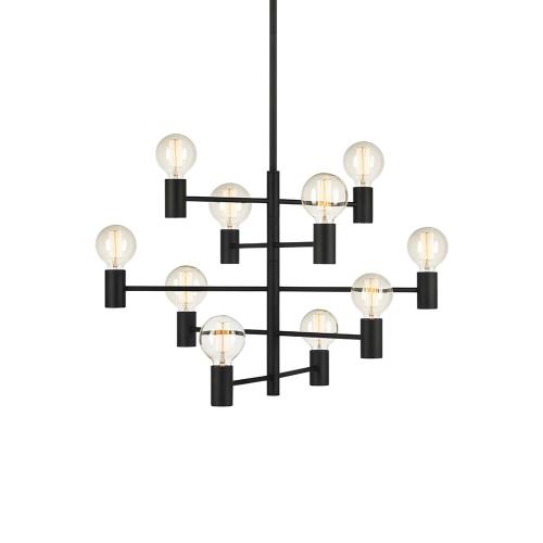PARIS candelabru cu 10 becuri E27, negru