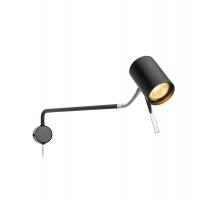 ALICE lampa de citit cu cap flexibil, negru/crom