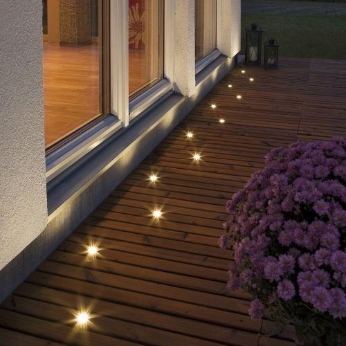 TRALL Decklight Set-5 Extra, set 5 LEDuri de completare incastrate pentru decking