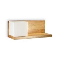 Aplica cu polita din lemn pentru stanga patului Toledo-1 Ap1 180090