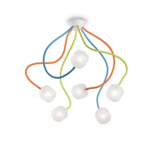 Plafoniera cu 6 brate flexibile multicolore Octopus Pl6 Color 174976