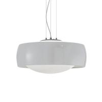 Pendul ultramodern din otel si sticla Comfort Sp1 Bianco 159553