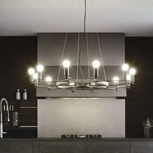 Candelabru minimalist Space Sp8 Nero 159454