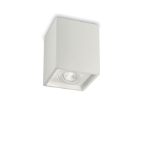 Spot patrat din gips cu bec orientabil Oak Pl1 Square Bianco 150468