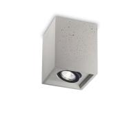 Spot patrat din beton cu bec orientabil Oak Pl1 Square Cemento 150475