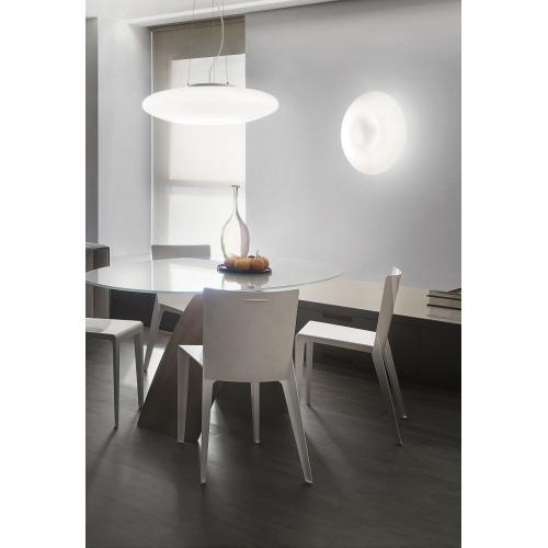 Lustra dormitor Glory Sp3 D40 101125, nichel-alb, 3xE27