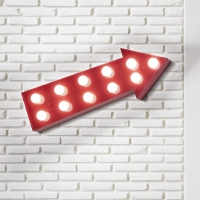 Aplica perete sageata rosie Circus Ap11 Rosso 153520, E14, 11 x 40W