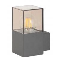 Aplica cubista de exterior transparenta/antracit, Dover 8139