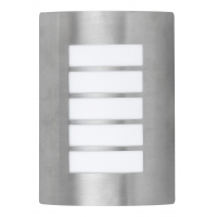 Aplica inox IP44 cu grilaj metalic orizontal, Potsdam 8664