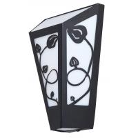 Aplica de exterior neagra cu model floral, York 8790