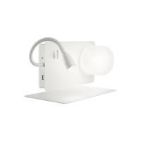 Lampa de citit cu USB, LED reader si 2 intrerupatoare, Book-1 Ap2 Bianco 174792