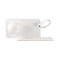 Lampa de citit etajera cu USB, LED reader si 2 intrerupatoare, Book-2 Ap2 Bianco 174822