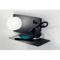 Lampa de citit cu USB, LED reader si 2 intrerupatoare, Book-2 Ap2 Nero 174846