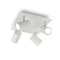 Plafoniera cu 4 cilindri orientabili, SPOT Pl4 Bianco 156774
