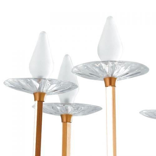 Lustra LED SINATRA ORO 30W 3100lm + 8XG4 1,5W 8X95lm 3200K