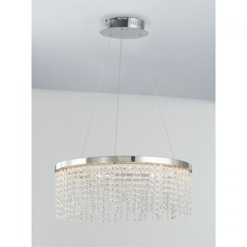 Lustra LED VENUS CROMO CRISTALLI K9 4000K 4800lm 60W