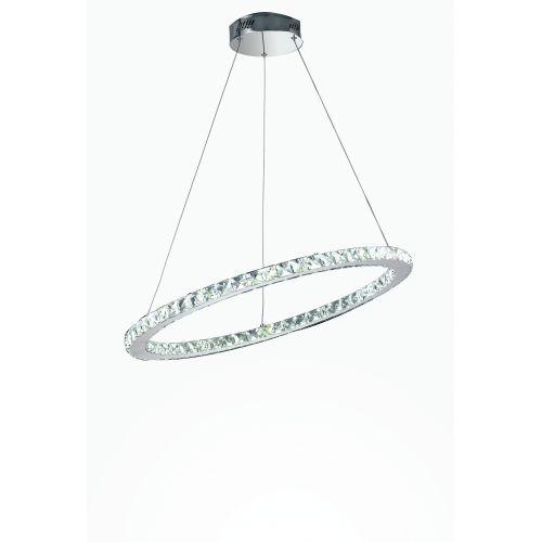 Lustra LED MELODY D.70 CROMO CRISTALLI K9 4000K 3060lm 36W