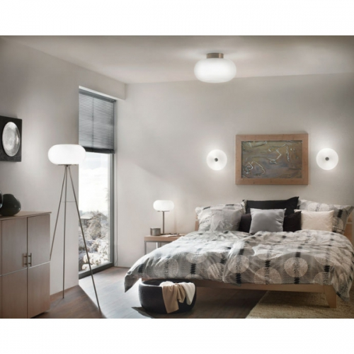 Lampadar Eglo Optica 86817, 2x60W, Alb