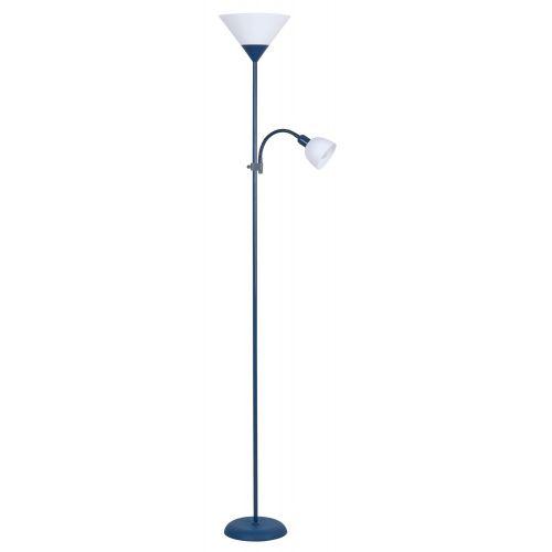 Lampadar ACTION 4187 E27 100W + E14 25W albastru