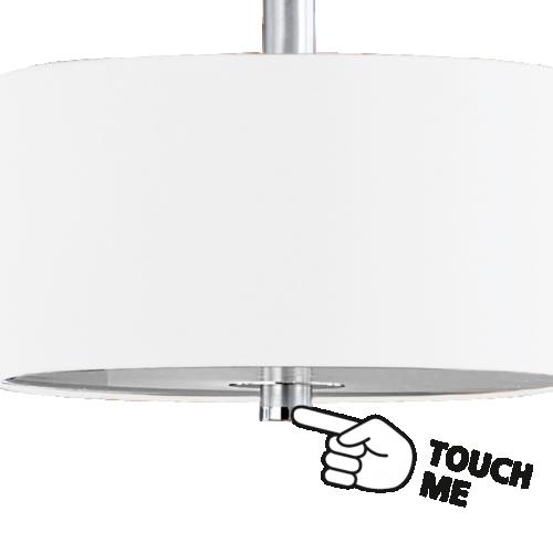 Pendul modern bej Eglo Halva 88562 3xE27 cu variator de intensitate