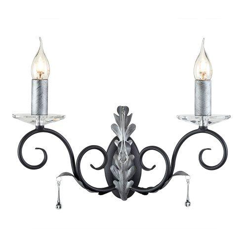 Aplica AMARILLI, negru argintiu, H:29cm