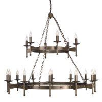 Candelabru fier forjat CROMWELL, bronz, H:128-600cm, 18 becuri