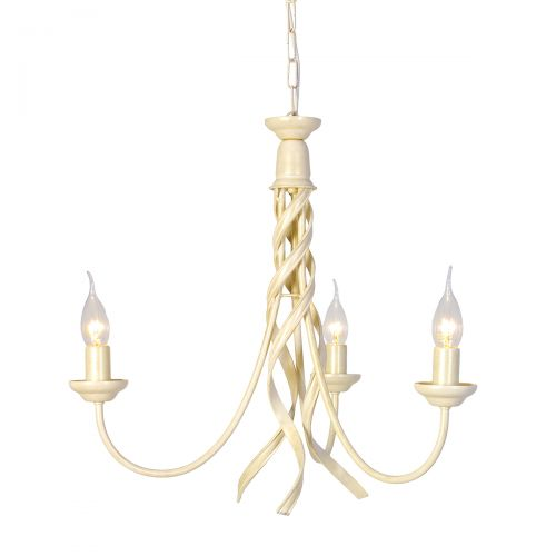 Lustra RIBBON, auriu ivoriu, H:106cm, 3 becuri