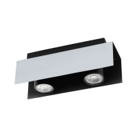 Spot LED-2x VISERBA, alb/negru, L:27cm