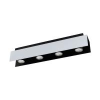 Spot LED-4x VISERBA, alb/negru, L:55cm