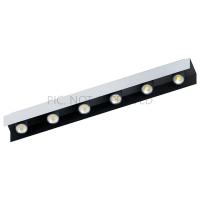 Spot LED-6x VISERBA, alb/negru, L:83cm