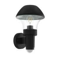 Aplica exterior cu senzor VERLUCCA, E27 60W, neagra