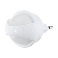 Lampa de veghe LED cu senzor de lumina TINEO, alba, L:8cm