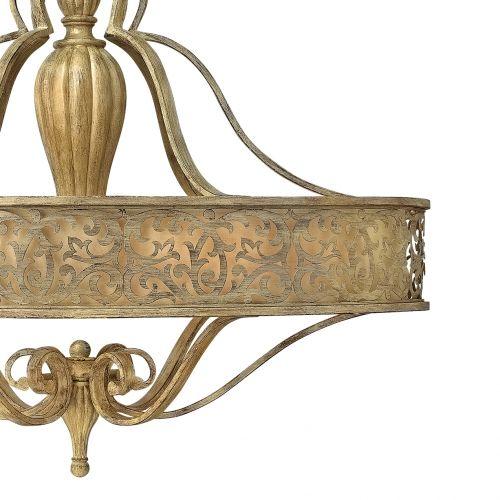 Candelabru artistic oval CARABEL, champagne, H:95-396cm, 6 becuri