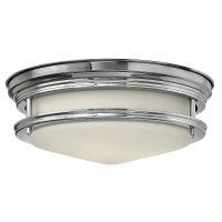 Plafoniera baie IP44 HADLEY, crom, 2x3.5W LED-G9 sticla alba