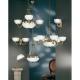 Lustra sufragerie Eglo Savoy 82748 3x40W E14 + 2x60W E27
