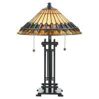 Lampa birou CHASTAIN, bronz, H:57.2cm, 2 becuri
